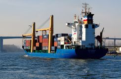 货物holandia船 库存图片