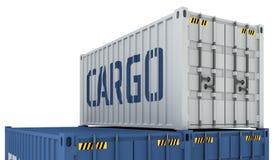 货箱的例证在白色隔绝的 皇族释放例证