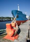 货船靠了码头002 免版税库存照片