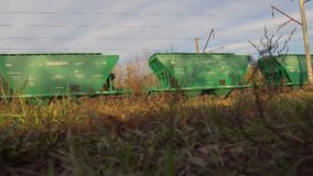 货车无盖货车的运动 影视素材
