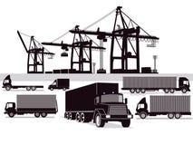 货运和向前的例证 库存图片