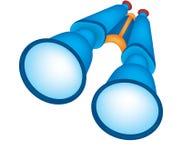 质朴的双筒望远镜 向量例证