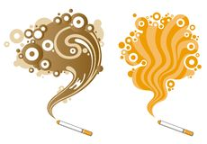 质朴的烟模式 向量例证