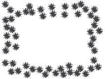 质朴的花五彩纸屑设计 皇族释放例证