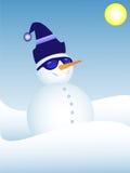 质朴的雪人 库存图片