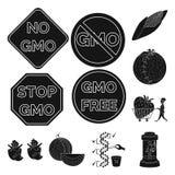 质量和实验室标志传染媒介设计  设置质量和基因上导航股票的象 库存例证