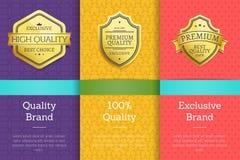 质量品牌100保证专属标号组 图库摄影