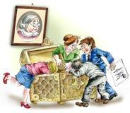 贪婪的继承人 向量例证