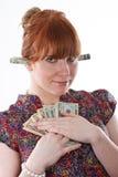 贪婪货币 免版税库存图片