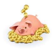 贪心的银行 库存例证