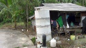 贫民窟在热带亚洲 股票录像