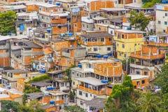 贫民窟在科帕卡巴纳巴比伦 免版税库存照片