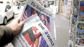 购买国际性组织压入巴黎街道 股票录像