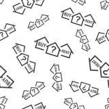 购买或租用房无缝的样式背景象 企业fla 免版税库存图片