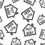 购买或租用房无缝的样式背景象 企业fla 图库摄影