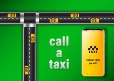 购买权出租汽车 向量例证