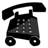 购买权电话冲了 向量例证