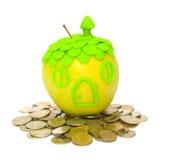 购买概念实际庄园的保险 免版税库存图片
