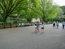 购物中心在中央公园在曼哈顿 免版税图库摄影