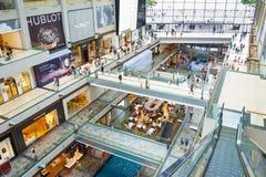 购物中心小游艇船坞海湾新加坡 库存照片
