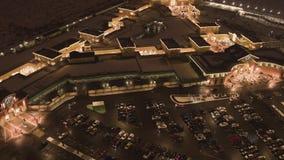 购物中心有启发性大厦屋顶上面顶视图在冬日 影视素材