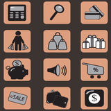 购物图标 免版税库存照片