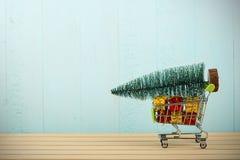 购物圣诞节假日 库存图片