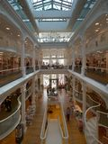 购物在Carturesti书店的人们,被认为最美丽的书店在布加勒斯特 库存图片