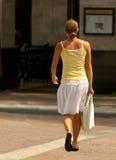 购物的单身妇女 免版税库存图片
