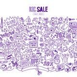 购物的大销售背景 免版税图库摄影