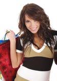 购物的性感的妇女 免版税图库摄影