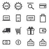 购物象集合,平的设计传染媒介illlustion eps10 免版税库存照片