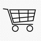 购物车图标红色系列购物 库存照片