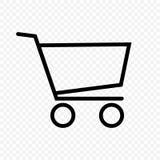 购物车图标红色系列购物 免版税库存图片
