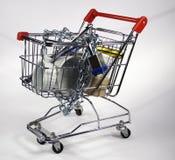 购物车安全购物 库存图片