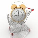 购物车时钟购物 向量例证