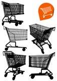 购物车空的查出的购物 免版税库存图片