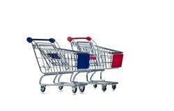 购物车购物的二白色 库存图片