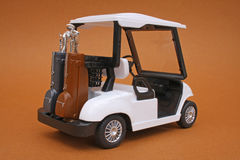 购物车高尔夫球设计缩放比例 库存照片