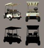 购物车高尔夫球 皇族释放例证