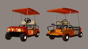 购物车高尔夫球 向量例证