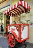 购物车gelati意大利语 库存照片