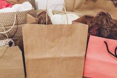 购物,圣诞节购物概念,文本的空间 大销售额 免版税库存照片