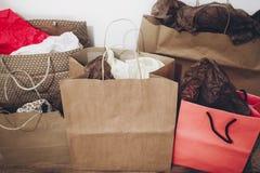 购物,圣诞节购物概念,文本的空间 大销售额 免版税图库摄影
