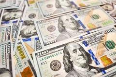 贴墙纸背景美国金钱一百元钞票视图为 库存图片