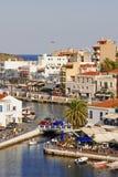 贴水克利特希腊海岛nikolaos 免版税库存照片