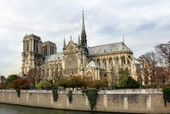 贵妇人notre巴黎 免版税库存照片