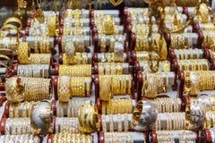 贵族义卖市场或金义卖市场首饰店在大不里士 东部阿塞拜疆省 伊朗 免版税图库摄影
