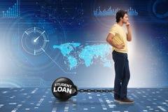 贷款和昂贵的教育概念的学生 免版税库存照片