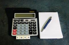 贷款概念,计划对个人贷款 免版税图库摄影